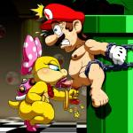 5_toes anthro bare_shoulders barefoot bdsm blue_eyes blush boo_(mario) bow bracelet brown_hair chain clenched_teeth clothing cock_and_ball_torture duo erection feet fellatio female forced_orgasm gloves hair hat high_heels human interspecies jewelry koopa koopalings male male/female mammal mario mario_bros necklace nintendo no_one nude oral orgasm pain penis pipe plant reptile rough_sex saliva scalie sex shell short_hair spread_legs spreading star sweat tears teeth toes tongue tongue_out turtle video_games wendy_o_koopa  Rating: Explicit Score: 9 User: Cαnε751 Date: July 11, 2015