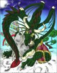2000 anthro biceps claws clothing dragon eastern_dragon forked_tongue green_scales horn japanese_clothing kimono lunarwolf male muscular oriental penis scales scalie solo tongue tree undressing wings yellow_eyes  Rating: Explicit Score: 1 User: syrmat Date: October 30, 2015