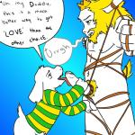 5_fingers age_difference anthro asgore_dreemurr asriel_dreemurr ball_fondling balls bdsm beard black_and_white bondage boss_monster bottomless bound clothed clothing crown cub cyndiquill200 dialogue duo english_text erection facial_hair fondling hair humanoid_penis incest licking male male/male monochrome navel nude open_mouth oral partially_retracted_foreskin penis penis_lick sex simple_background speech_bubble sweater text tongue tongue_out uncut undertale video_games young  Rating: Explicit Score: 9 User: Captcha142 Date: April 08, 2016