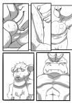 2014 anthro balls big_balls canine comic erection eyes_closed feet fellatio fur hi_res hi_rey kneeling machoke male male/male mammal monochrome mouse muscular nintendo oral penis pokémon rodent ryusuke573 sex sitting spa teeth text towel video_games xalex14  Rating: Explicit Score: 8 User: xxroland Date: January 29, 2016