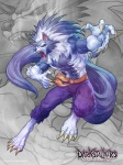 abs anthro artgerm barefoot belt biceps big_muscles black_nose blue_fur blue_hair canine claws clothed clothing darkstalkers fangs flexing fur hair half-dressed jon_talbain looking_at_viewer male mammal muscles open_mouth orange_eyes pants pecs pose solo standing teeth toe_claws toned tongue topless torn_clothing vein video_games were werewolf white_fur white_hair wolf   Rating: Safe  Score: 4  User: joao  Date: February 05, 2013