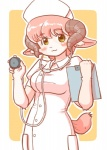 "caprine doctor female hair kemono kin-shun mammal pink_hair sheep short_hair solo yellow_eyes  Rating: Safe Score: 3 User: KemonoLover96 Date: July 03, 2015"""
