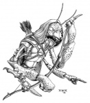 4_arms anthro archer arrow arthropod bow_(weapon) chitin cloak clothing dagger dungeons_&_dragons greyscale holding_object holding_weapon hood insect insectoid low_res male mantis melee_weapon monochrome multi_arm multi_limb quiver ranged_weapon simple_background solo thorax thri-kreen unknown_artist weapon white_background wizards_of_the_coastRating: SafeScore: 1User: SwampDate: June 21, 2012