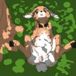bronzecatworld brown_eyes brown_fur butt cervine clitoris deer digitigrade ears_down female feral forest fur grass hooves low_res lying mammal nude on_back open_mouth outside pussy solo spread_legs spreading tongue tree white_fur young   Rating: Explicit  Score: 7  User: atatat  Date: May 21, 2015