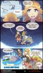 blonde_hair blue_eyes cave claws clothed clothing comic dragon dratini english_text female feral hair hi_res horn human kommo-o lapras long_hair male mammal mantine marine matemi nintendo pokéball pokémon pokémon_(species) remoraid scalie text trainer_penelope video_games water