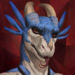 1:1 3_horns abstract_background anthro black_body black_scales blue_body blue_scales detailed drackonthanri forked_tongue headshot_portrait hi_res honovy honovyart horn looking_at_viewer male multi_horn multicolored_body multicolored_scales open_mouth portrait red_eyes reptile scales scalie sharp_teeth simple_background teeth tongue tongue_out white_body white_scales