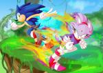 anthro blaze_the_cat blue_body duo fur green_eyes purple_fur sonic_(series) sonic_the_hedgehog unknown_artist yellow_eyes  Rating: Safe Score: 6 User: Rad_Dudesman Date: August 17, 2015