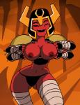 alien animated areola armor ben_10 big_breasts breasts clothing dboy erect_nipples female flashing looma_red_wind nipples not_furry panties red_skin smile solo tetramand underwear  Rating: Questionable Score: 12 User: WhiteWhiskey Date: October 03, 2015