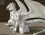 2015 anthro breasts claws crouching dragon ear_piercing female iggi marble nude open_mouth piercing pussy simple_background solo wings  Rating: Explicit Score: 22 User: Kida Date: July 28, 2015