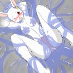 alice_(tsubasa1110) anthro breasts clothing female hands_behind_head lagomorph lying mammal navel nipples one_eye_closed open_mouth panties rabbit slime solo spread_legs spreading tentacles tsubasa1110 underwear  Rating: Questionable Score: 1 User: ChestFox Date: March 29, 2014