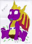 ambiguous_gender baby diaper dragon feces pacifier paws scat smelly solo spyro spyro_the_dragon video_games young   Rating: Questionable  Score: -2  User: Horse_97  Date: January 23, 2015