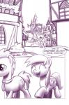 cutie_mark derpy_hooves_(mlp) doctor_whooves_(mlp) duo english_text equine eyes_closed female friendship_is_magic horse male mammal monochrome moonlitbrush_(artist) my_little_pony open_mouth outside plain_background pony smile text tongue white_background wings   Rating: Safe  Score: 0  User: EmoCat  Date: May 25, 2015