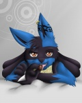 abstract_background anthro black_fur blanket blue_fur candy canine chocolate eating english_text food fur kuro-no-yuki looking_at_viewer lucario male mammal nintendo orange_eyes piercing pokémon seductive simple_background solo tattoo teeth text tongue tuft video_games  Rating: Safe Score: 22 User: DeltaFlame Date: December 17, 2014