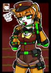 2016 animal_humanoid anthro battleblock_theater candy cat cat_guard cat_humanoid clothing datfurrydude fangs feline female fingerless_gloves food gloves guard_uniform humanoid lollipop mammal p90 short_pants solo  Rating: Safe Score: 2 User: datfurrydude Date: February 07, 2016