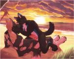 2015 abs african_wild_dog animal_genitalia anthro beach beavh biceps black_fur black_nose black_pawpads blue_markings brown_fur canine canine_penis claws dog duo embrace eyes_closed feralise frottage fur hand_on_face hybrid kissing knot male male/male mammal markings multicolored_fur muscles necklace nude pawpads paws pecs penis sand sea seaside sex sunset toe_claws toned warm_colors water white_fur wolf   Rating: Explicit  Score: 31  User: Numeroth  Date: April 08, 2015