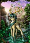 2014 antlers cervine crown cutie_mark deer feral forest friendship_is_magic green_eyes hair hi_res horn looking_at_viewer male mammal my_little_pony prince royalty tree waterfall wings yakovlev-vad   Rating: Safe  Score: 7  User: Somepony  Date: April 24, 2014