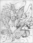2000 anthro biceps claws clothing dragon eastern_dragon forked_tongue horn japanese_clothing kimono lunarwolf male monochrome muscular oriental penis scales scalie simple_background solo tongue tree undressing white_background wings  Rating: Explicit Score: 1 User: syrmat Date: October 30, 2015