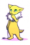 ambiguous_gender daisuke fur green_eyes hypno nintendo pendulum pokémon solo video_games