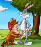 anthro bugs_bunny duo elmer_fudd human human_on_anthro interspecies lagomorph looney_tunes male male/male mammal rabbit warner_brothers  Rating: Explicit Score: -5 User: Markice619 Date: September 21, 2015