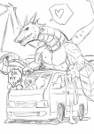 <3 ambiguous_gender car clenched_teeth cum cum_drip dragon dragons_having_sex_with_cars dripping duo english_text feral horn human kurotutuki male mammal masturbation mechanophilia membranous_wings nude outside scalie shocked simple_background sketch speech_bubble spread_wings teeth text vehicle western_dragon white_background wings  Rating: Explicit Score: 0 User: Genjar Date: February 04, 2016