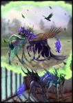 2016 avian begasuslu bird black_fur blue_eyes blue_hair bone changeling duo equine female feral friendship_is_magic fur green_eyes green_hair hair hi_res horn insect_wings jewelry magic mammal my_little_pony necklace nightmare_moon_(mlp) outside queen_chrysalis_(mlp) skeleton sky slit_pupils tree winged_unicorn wingsRating: SafeScore: 7User: slyroonDate: May 24, 2017