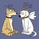 angel black_nose brian_griffin canine collar dialogue dog duo english_text family_guy feral halo male mammal plain_background radical-hat sad sitting text vinny_griffin wings   Rating: Safe  Score: 1  User: slyroon  Date: December 27, 2014