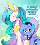 2015 armor blue_eyes blue_feathers blue_hair blue_wings blush cute cutie_mark duo ende english_text equine eyelashes eyes_closed feathered_wings feathers female feral friendship_is_magic hair helmet horn long_hair looking_at_viewer mammal multicolored_hair my_little_pony open_mouth princess_celestia_(mlp) princess_luna_(mlp) smile text unicorn winged_unicorn wings  Rating: Safe Score: 14 User: Blaze248 Date: April 17, 2016