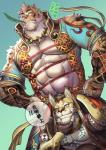 abs anthro biceps clothed clothing clouded_leopard feline fur male mammal muscular nekojishi pecs tattoo 熊八Rating: SafeScore: 3User: VallizoDate: February 23, 2017
