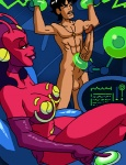 abs alien animated balls big_breasts big_penis breasts cross dboy erection female huge_penis human male mammal masturbation nude penis smile vein  Rating: Explicit Score: 1 User: Robinebra Date: June 19, 2012