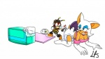 2012 anthro arthropod bat bee blush charmy_bee diaper duo female insect liljdude male mammal pacifier rouge_the_bat sonic_(series)   Rating: Safe  Score: -2  User: letmerok  Date: July 13, 2013