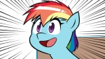 blue_fur equine female friendship_is_magic fur hair horse hotdiggedydemon mammal multicolored_hair my_little_pony pony purple_eyes rainbow_dash_(mlp) rainbow_hair solo swag.mov