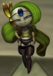 clothing female garter_belt humanoid legendary_pokémon legwear lingerie meloetta nintendo panties pokémon solo standing stockings theboogie underwear video_games   Rating: Safe  Score: 10  User: Juni221  Date: May 17, 2013