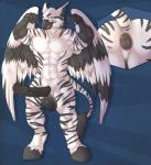abs animal_genitalia anthro anus avian balls barefoot beak biceps big_anus big_balls big_muscles big_penis bird black_body black_penis blue_background blue_eyes butt close-up equine erection feathered_wings feathers flexing hippogryph hooves horsecock hybrid kreios male mammal markings muscles nude open_mouth osprey pecs penis pose puffy_anus shadowpelt simple_background smile solo stripes toned tongue vein white_body wings zebra  Rating: Explicit Score: 16 User: Kreios Date: February 17, 2015