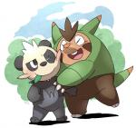 bear mammal marshtompkd nintendo pancham panda pokémon quilladin smile video_games  Rating: Safe Score: 4 User: CG550 Date: August 30, 2015