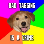 abstract_background advice advice_dog advice_meme amazing ambiguous_gender black_eyes black_nose brown_fur canine caption colorful compression_artifacts cute disembodied_head dog e621 english_text fangs feral floppy_ears fur golden_retriever happy headshot_portrait humor image_macro looking_at_viewer low_res mammal meme message open_mouth portrait public_service_announcement rainbow reaction_image real serious simple_background smile solo tagging_guidelines_illustrated teeth text the_truth tongue unknown_artist