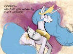 2014 blue_hair cutie_mark english_text equine female feral friendship_is_magic fur hair hattonslayden horn long_hair looking_at_viewer mammal my_little_pony pink_eyes princess_celestia_(mlp) solo text white_fur winged_unicorn wings   Rating: Safe  Score: 10  User: Robinebra  Date: August 22, 2014