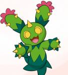 ambiguous_gender flora_fauna looking_at_viewer maractus nintendo plant pokémon solo spikes unknown_artist video_games yellow_eyes  Rating: Safe Score: 8 User: Nuji Date: April 11, 2016