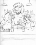 5_fingers age_difference anthro associated_student_bodies bar belt beverage brown_hyena cheek_tuft chris_mckinley clothed clothing collar comic daniel_king eye_contact eyebrows eyewear feline food fully_clothed glass glasses group hair hyena hyenafur larger_male lion looking_down looking_up male male/male mammal monochrome older_male open_mouth roy_(asb) shirt short_hair size_difference sketch smaller_male smile tuft whiskers younger_male  Rating: Safe Score: 11 User: Vinea Date: December 13, 2015