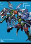 2017 armor arthropod blue_background blue_scales claws collar digimon dinobeemon dragon drill duo english_text gun helmet horn insect insect_eyes insect_wings male markings mask membranous_wings midriff paildramon ranged_weapon red_eyes scales scalie shoulder_pads simple_background spikes text tg_mario weapon wingsRating: SafeScore: 1User: MuddybunnyDate: March 30, 2017