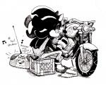anthro boombox clothing english_text footwear gloves hedgehog male mammal motorcycle shadow_the_hedgehog shojo-nosferatu sitting sonic_(series) text vehicle video_gamesRating: SafeScore: 3User: Cane751Date: June 22, 2018