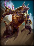 action_pose anthro anubis armor band bandage barefoot black_fur bright_eyes claws clothed clothing cloud costume deity detailed digital_media_(artwork) digitigrade egyptian fangs fur jewelry loincloth long_ears magic male melee_weapon muscular no_pupils official_art open_mouth outside pose purple_eyes scepter sharp_teeth sky smite solo sword teeth toned unknown_artist weapon  Rating: Safe Score: 19 User: Vanzilen Date: August 28, 2015