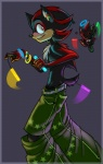 <3 atomicstoney belt chao clothing duo glowstick happy hedgehog male mammal pants rave shadow_the_hedgehog sonic_(series) video_games  Rating: Safe Score: 3 User: tartcore Date: August 07, 2015
