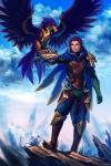 ambiguous_gender anthro armor avian clothed clothing cloud crossgender duo feathers feral flower hair human league_of_legends looking_at_viewer male mammal mountain outside plant pose purple_hair quinn_(league_of_legends) scar sky solthrys talons valor_(league_of_legends) video_games wings yellow_eyes   Rating: Safe  Score: 14  User: Knotty_Curls  Date: May 22, 2015