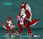balls bandai barazoku black_skin chubby claws digimon duo forked_tongue growlmon growlmon_x guilmon guilmonboy hair horn knot lizard male markings muscles penis red_skin reptile scalie tiaamaito tongue white_skin   Rating: Explicit  Score: 10  User: Karbuncle  Date: February 15, 2015