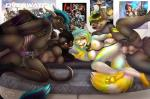2017 anthro anthro_on_anthro bisexual black_hair blue_hair breasts canine collar detailed_background digital_media_(artwork) dog dragon eye_contact featureless_breasts female female/female foursome from_behind_position fur group group_sex hair half-closed_eyes horn kissing leash lucy_(fadey) lying making_out male mammal membranous_wings mifa nipples nude on_side pawpads penetration pussy raised_leg saliva saliva_string sex smile spread_legs spreading techy tongue tongue_out vaginal vaginal_penetration white_fur wings wolf yellow_areola yellow_nipples yellow_tongueRating: ExplicitScore: 23User: MillcoreDate: November 08, 2017