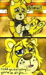 animatronic bear blue_eyes bow_tie comic crying duo eyes_closed five_nights_at_freddy's five_nights_at_freddy's_3 golden_freddy_(fnaf) lagomorph machine male mammal mechanical oil rabbit riznben_(artist) robot springtrap_(fnaf) tears video_games yellow_eyes  Rating: Safe Score: 0 User: Vallizo Date: June 29, 2015""