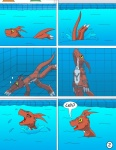 comic digimon diving dragon guilmon pool reptile scalie swimming underwater water   Rating: Safe  Score: 5  User: xtx842  Date: August 04, 2013