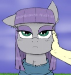 2014 blue_eyes clothing dress equine eyeshadow eyeshdadow female friendship_is_magic horse human ichibangravity looking_at_viewer makeup mammal maud_pie_(mlp) my_little_pony petting pony solo   Rating: Safe  Score: 0  User: 2DUK  Date: April 24, 2014