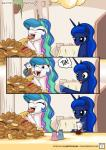 animated doughnut eating english_text equine female feral food friendship_is_magic group horn male mammal marsupial my_little_pony mysticalpha opossum princess_celestia_(mlp) princess_luna_(mlp) text tiberius_(mlp) winged_unicorn wings  Rating: Safe Score: 34 User: Robinebra Date: October 20, 2015