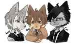 canine cat clothed clothing cute dog feline group male mammal megu-milk smile wolf  Rating: Safe Score: 1 User: Haywire Date: June 07, 2011
